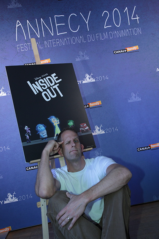 "A LOOK ""INSIDE OUT""—Academy Award®-winning director Pete Docter introduced guests of the Annecy International Animated Film Festival to Disney·Pixar's new original feature film ""Inside Out,"" which takes audiences to the most extraordinary location of all—inside the mind. Featuring the voices of Amy Poehler, Bill Hader, Lewis Black, Mindy Kaling and Phyllis Smith, ""Inside Out"" opens in theaters June 19, 2015."