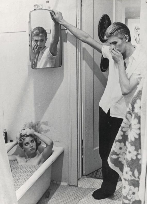 Photomontage par David Bowie tiré des photos du film The man Who Fell to Earth, 1975-6.
