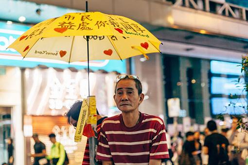 Umbrella Revolution in Mongkok by coloursinmylife