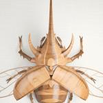 Création décortiquée // Wooden Rhinoceros Beetle