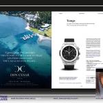 Mise en page d'un magazine de luxe