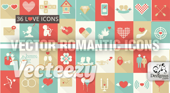 vector_romantic_icons
