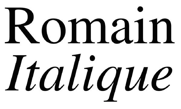 italique