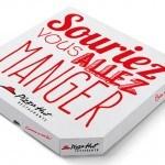 La «boîte à pizza du sourire» pour Pizza Hut par Creads