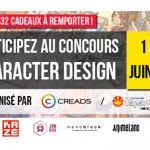 JAPAN EXPO & CREADS lancent leur grand concours de Character Design 2017 !