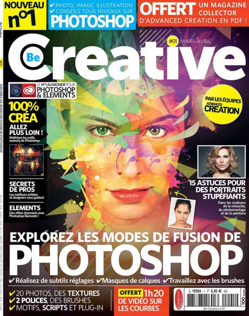 Couverture du n°1 de Be Creative, mars/avril 2016