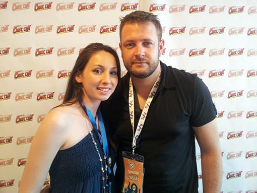 Fabien Fournier le créateur de la série et Anne-Laure Jarnet au Comic Con.